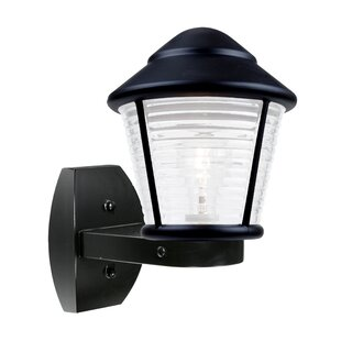 Reviews Donnie 1-Light Ribbed Face Outdoor Wall Lantern By Latitude Run