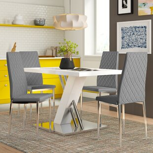 Tyra Dining Set With 4 Chair By Zipcode Design