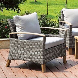 Bungalow Rose Piute Patio Chair with Cush..