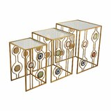 Bly Glass Top Frame Nesting Tables by Everly Quinn