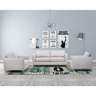 Brayden Studio Borough Hall Sleeper 3 Piece Living Room Set