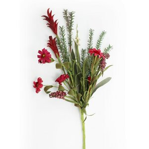 Mix Flower with Bunch Berry Spray Branch (Set of 3)