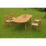 Gladys 5 Piece Teak Dining Set
