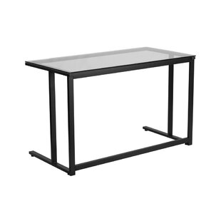 Ebern Designs Devereau Glass Desk