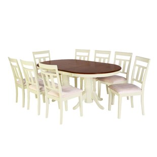 Bellino 9 Piece Extendable Solid Wood Dining Set August Grove