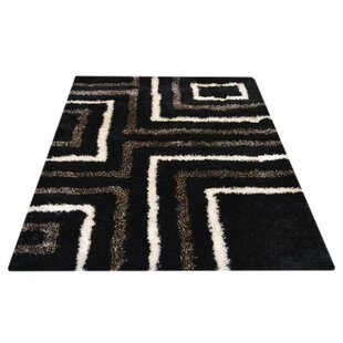 Online Reviews Romelia Geometric Hand-Tufted Black/White Area Rug By World Menagerie