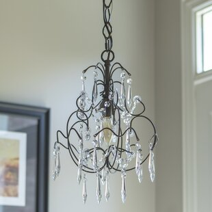 Astoria Grand Pranav 1-Light Crystal Chandelier