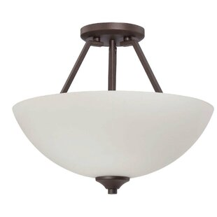 Bloomfield 2-Light Semi Flush Mount by Ebern Designs