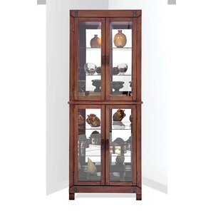 Wellesley Lighted Corner Curio Cabinet..