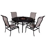 Baur 6 Piece Dining Set with Firepit
