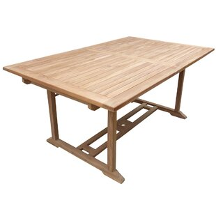 Highland Dunes Cosper Rectangular Extendable Teak Dining Table