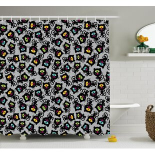 Marcella Spiritual Kitten Pet Animal Single Shower Curtain