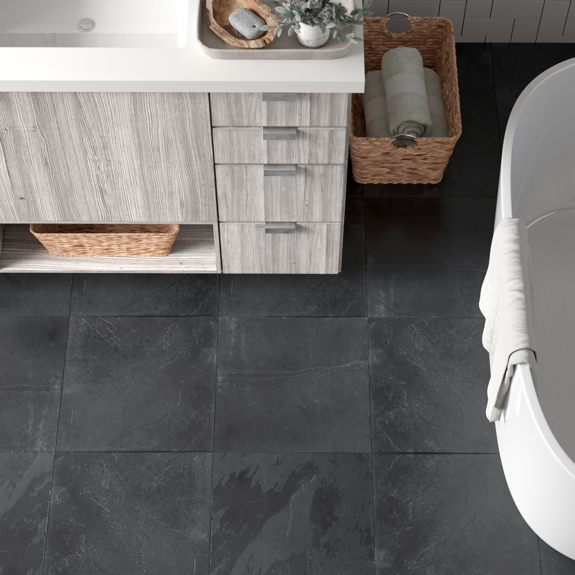 Slate Bathroom Tile You Ll Love In 2021 Wayfair