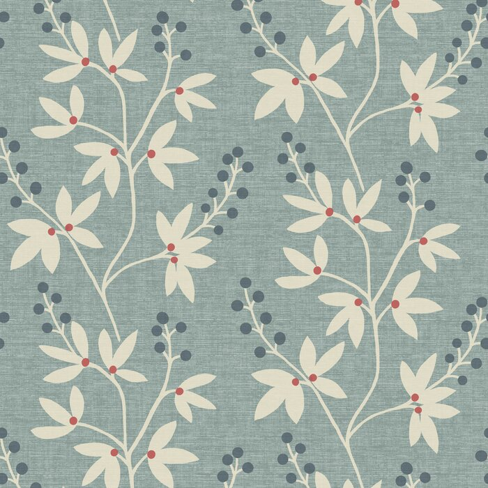 Simple Space Ii 33 X 20 5 Currant Botanical Wallpaper Roll