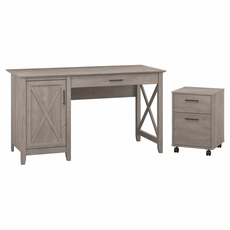 Beachcrest Home Oridatown Computer Desk with 2 Drawer Mobile