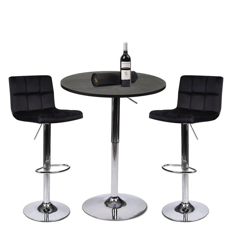 Orren Ellis Aswith 3 - Piece Counter Height Dining Set