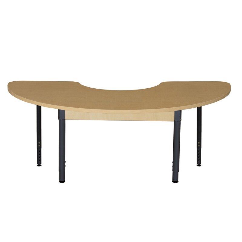 Perfect Half Circle High Pressure Laminate Table (Adjustable Legs)