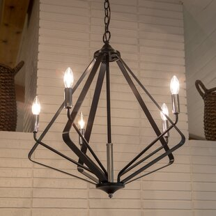 Wrought Studio Berkeley 5-Light Geometric Chandelier