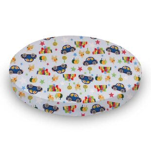 Reviews Cars and Dogs Fitted Crib Sheet BySheetworld