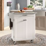 Savorey Kitchen Cart with Granite Top by August Grove®
