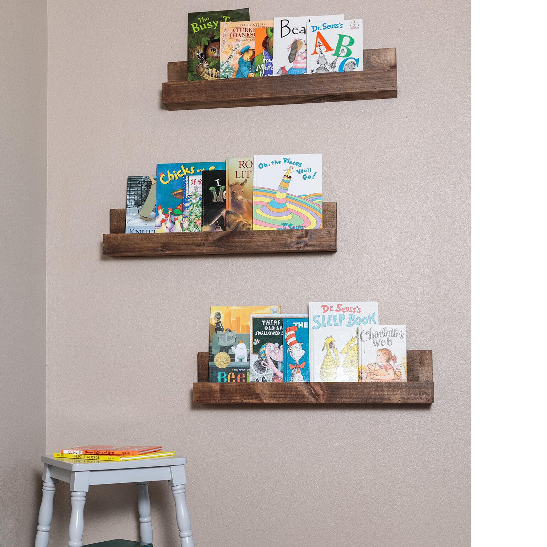 Fine Floating Bookcase Wayfair Beutiful Home Inspiration Xortanetmahrainfo
