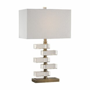 Olmstead Spilsby Stacked Crystal Block 16.5 Table Lamp