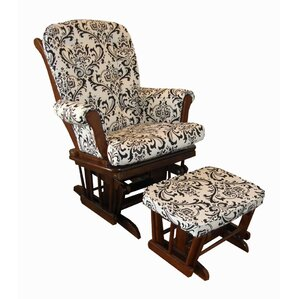 Girly Floral Glider And Ottoman