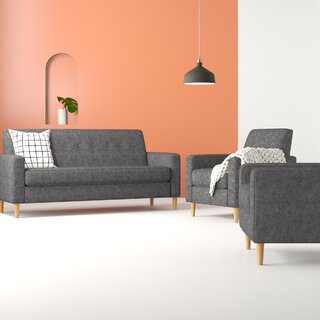 Arden 3 Piece Living Room Set by Hashtag Home SKU:EE399446 Shop