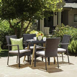 Downend Outdoor 5 Piece Dining Set with C..
