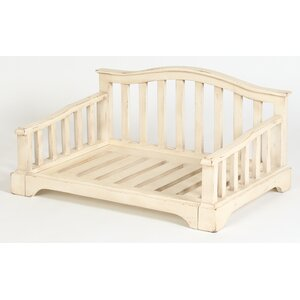 French Country Solid Wood Dog Bed