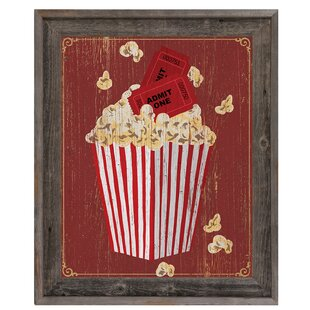 'Popcorn with Admission' Framed Graphic Art by Click Wall Art