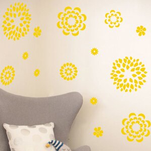 Yellow Wall Decals Youll Love Wayfair - Yellow flower wall decals