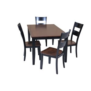 Haan 5 Piece Dining Set with Butterfly Le..