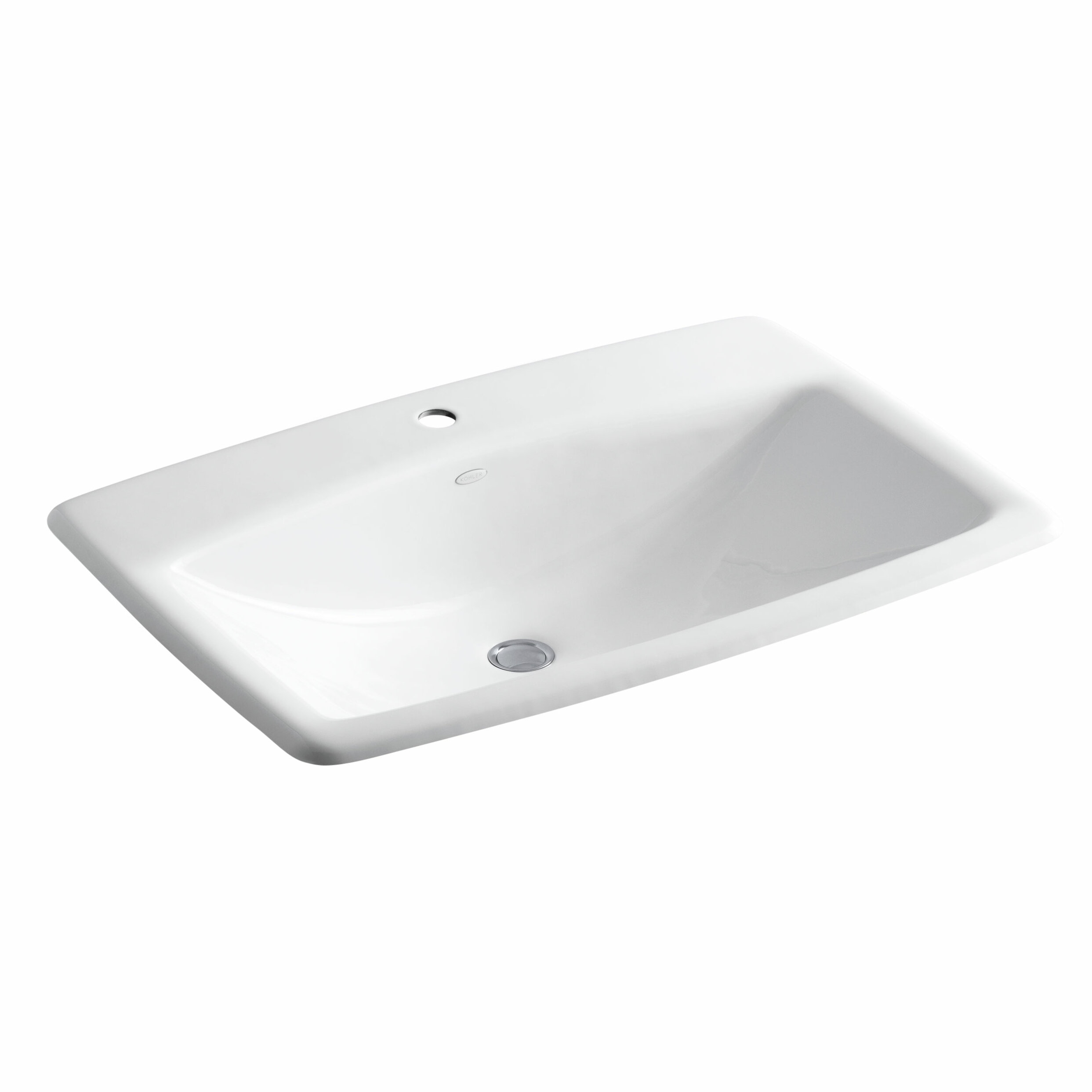 K 2885 1 0 mans lav metal rectangular drop in bathroom sink with overflow
