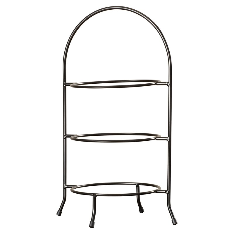 Hardin 3 Tier Dinner Plate Rack Tiered Stand  sc 1 st  Wayfair & Three Posts Hardin 3 Tier Dinner Plate Rack Tiered Stand u0026 Reviews ...