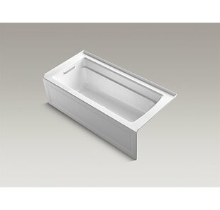Kohler Archer Alcove BubbleMassage™ Air Bath with Integral Apron, Left-Hand Drain and Bask™ Heated Surface