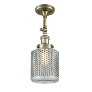 Iyana 1-Light Semi Flush Mount by Breakwater Bay
