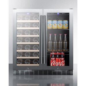 Summit 28 Bottle Dual Zone Convertible Wine Cooler by Summit Appliance