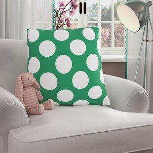 Reva Polka Dot 100% Cotton Throw Pillow