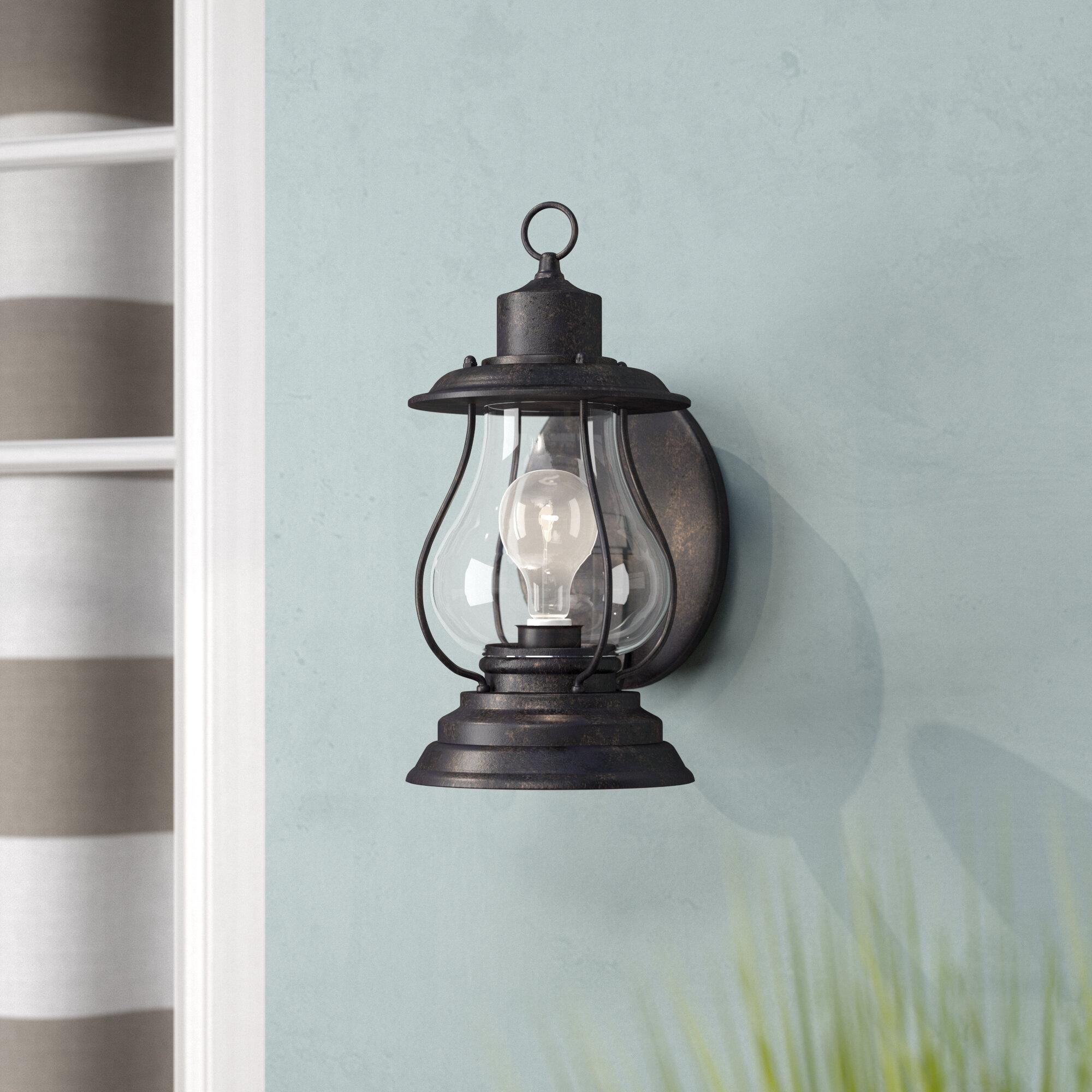 Beachcrest Home Carina 1-Light Outdoor Wall Lantern & Reviews   Wayfair