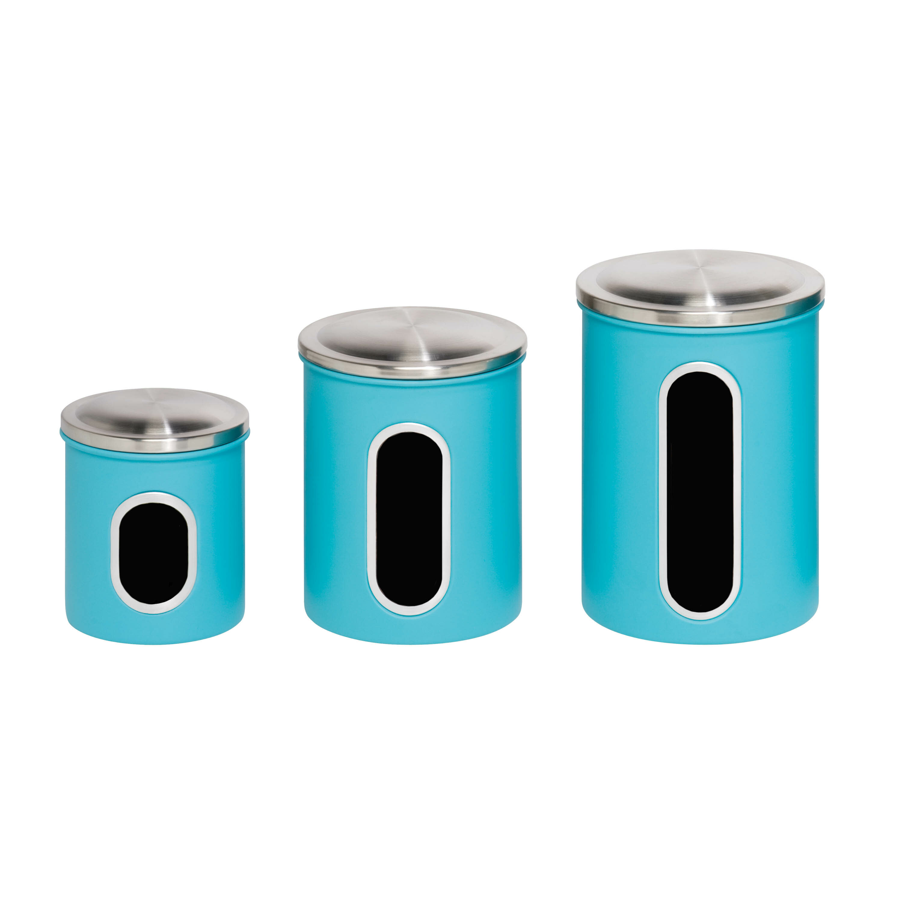 Honey Can Do Nested 3 Piece Kitchen Canister Set & Reviews | Wayfair