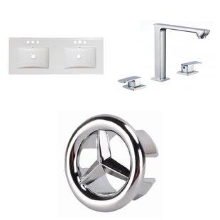 Ceramic 48 Double Bathroom Vanity Top by American Imaginations