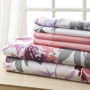 Socorro Gray and Pink Floral Sheet Set