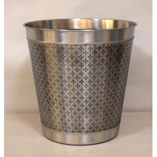 Fashion Home Flora Eatched 3 Gallon Waste Basket