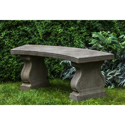 Zimelman Cast Stone Garden Bench Astoria Grand Color: Ferro Rustico Nuovo