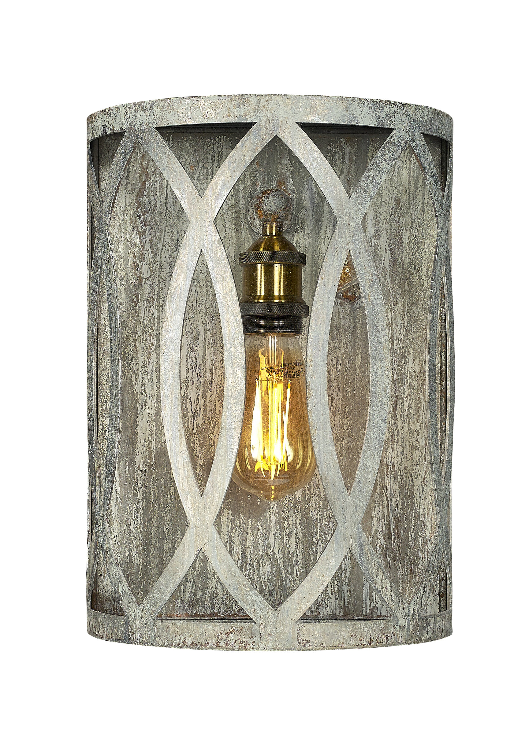 Cottage Country Gray Shade Wall Sconces You Ll Love In 2021 Wayfair