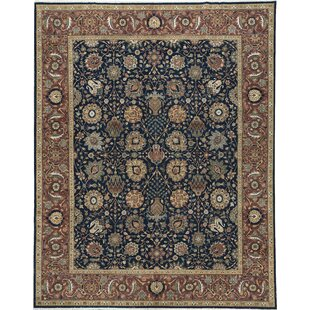 Buy luxury One-of-a-Kind Signature Hand-Knotted 11'10 x 14'9 Wool Red/Black Area Rug ByBokara Rug Co., Inc.