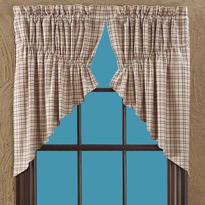 Loon Peak Ballindam Lined Prairie Curtain Valance Reviews Wayfair