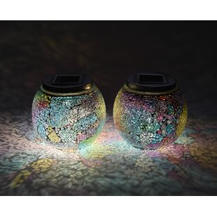Lightshare Mosaic Solar 2 Piece LED Landscape Lighting Set