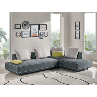 Jersey Sleeper Sectional by Orren Ellis Reviews